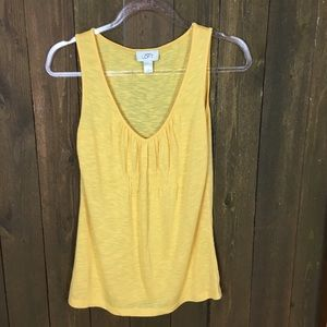 Anne Taylor Women's Sz S Sleeveless yellow top
